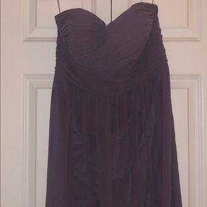Floor length strapless dress